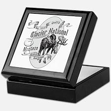 Glacier National Vintage Moose Keepsake Box