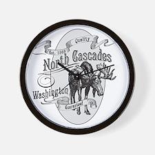 North Cascades Vintage Moose Wall Clock