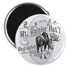 Mt. Rainier Vintage Moose Magnet