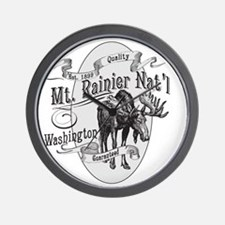 Mt. Rainier Vintage Moose Wall Clock