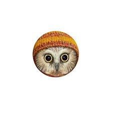 Baby Owl Mini Button