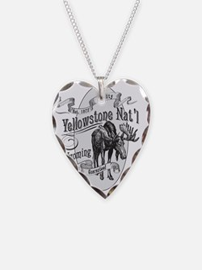 Yellowstone Vintage Moose Necklace