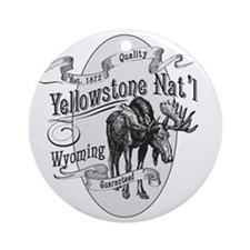 Yellowstone Vintage Moose Round Ornament
