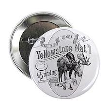 "Yellowstone Vintage Moose 2.25"" Button"