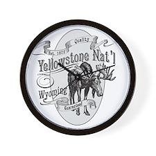 Yellowstone Vintage Moose Wall Clock