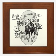 Medicine Bow Vintage Moose Framed Tile