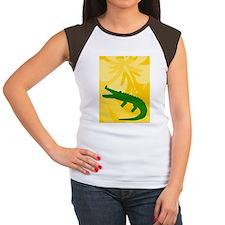 Alligator iPad2 Case Women's Cap Sleeve T-Shirt