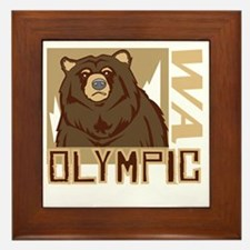 Olympic Grumpy Grizzly Framed Tile