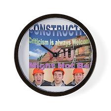Constructive Criticism Wall Clock