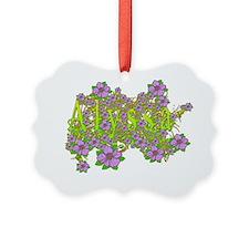 Alyssa Floral Lavender Flowers ye Ornament