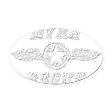 MYRA ROCKS Oval Car Magnet