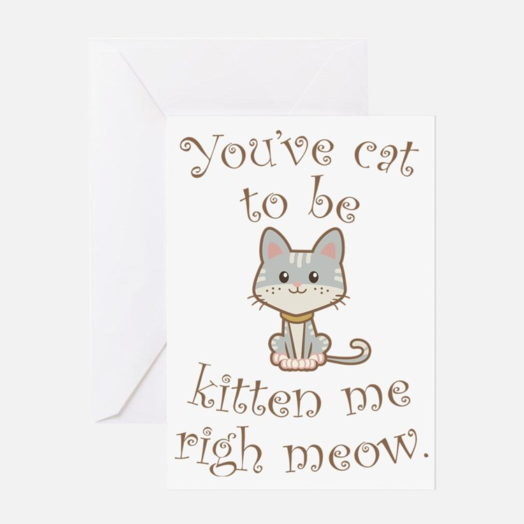 Right Meow Greeting Card