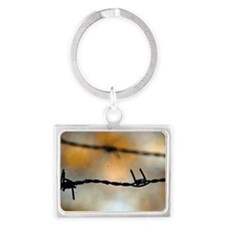 Barbed Wire Landscape Keychain
