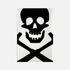 Rockhound Skull Cross Picks Rectangle Magnet