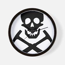 Rockhound Skull Cross Picks Wall Clock