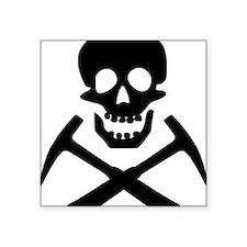"Rockhound Skull Cross Picks Square Sticker 3"" x 3"""
