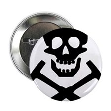 "Rockhound Skull Cross Picks 2.25"" Button"