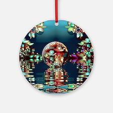 Mandelbrot Fractal Lake 2 Round Ornament