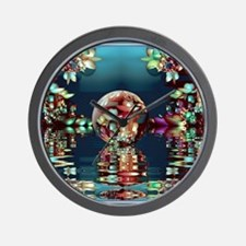 Mandelbrot Fractal Lake 2 Wall Clock