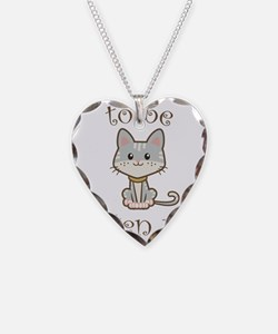 Right Meow Necklace Heart Charm