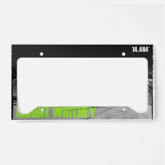 Mount Whitney License Plate Holder
