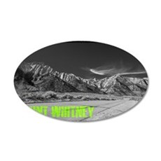 Mount Whitney 35x21 Oval Wall Decal