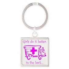 Girls do it Better! Square Keychain