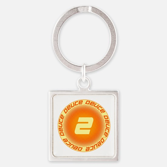 Deuce #2 Square Keychain
