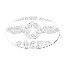 BRANSON WEST ROCKS Oval Car Magnet