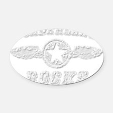 BORDERLAND ROCKS Oval Car Magnet