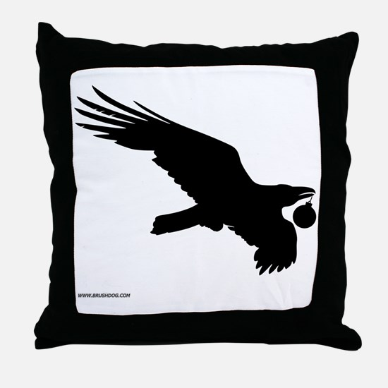 Christmas_Raven_10x10_apparel Throw Pillow