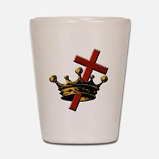 Cross and Crown Shot Glass