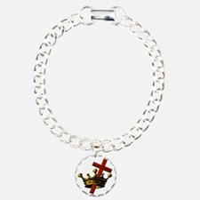 Cross and Crown Bracelet
