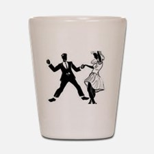 Swing Dancers Shot Glass