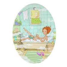 Bath Time is Me Time Oval Ornament