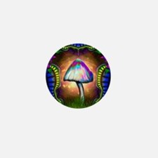 Magic Mushroom Mini Button