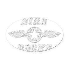 NIRA ROCKS Oval Car Magnet