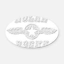 NOLAN ROCKS Oval Car Magnet