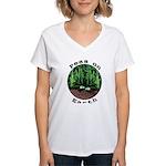 Peas On Earth Women's V-Neck T-Shirt