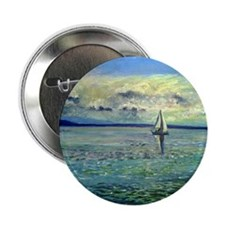 """front view of sailboat art 2.25"""" Button"""