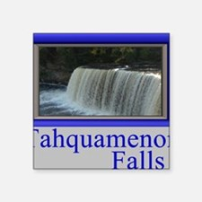 "Tahquamenon Falls Michigan  Square Sticker 3"" x 3"""