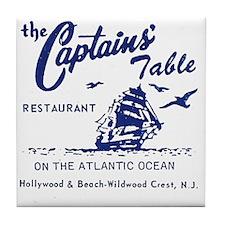 Captains Table Restaurant - Wildwood  Tile Coaster