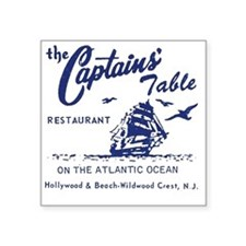"Captains Table Restaurant - Square Sticker 3"" x 3"""