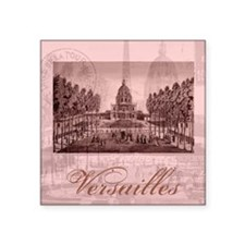 "versailles shabby chic pink Square Sticker 3"" x 3"""
