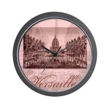 versailles shabby chic pink Wall Clock