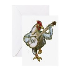 Banjo Chicken Greeting Card