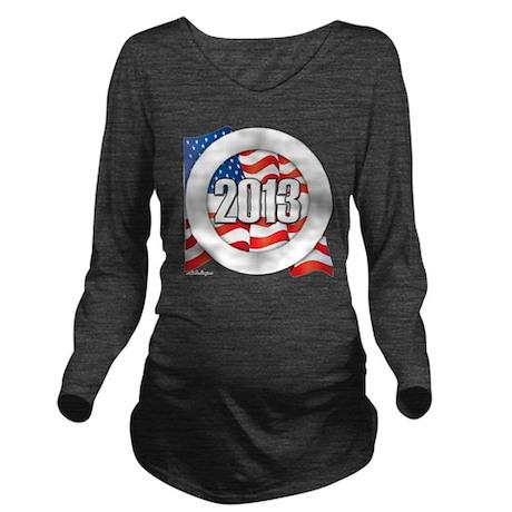 2013 Round Logo Long Sleeve Maternity T-Shirt