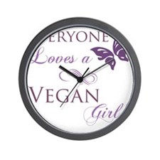 Vegan Girl Wall Clock