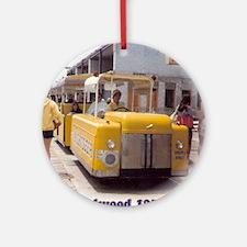Boardwalk Tram Round Ornament