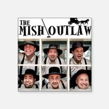 """Amish Outlaws Kid Shirt Square Sticker 3"""" x 3"""""""